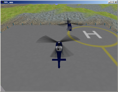 Two helicopters in a MS-Windows window