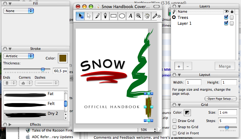 Cover of a handbook for snow